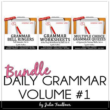 Ten-Minute Grammar, Daily Grammar Program, Set #1 BUNDLE, 18 weeks