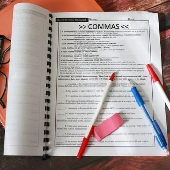 Ten-Minute Grammar, Daily ACT Prep, Set #2 BUNDLE, 18 Weeks