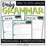 Daily Grammar - Pronouns & Prepositions