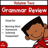 Daily Grammar Review for Second Grade