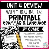 Daily Grammar and Language Activities: Unit 4 Review