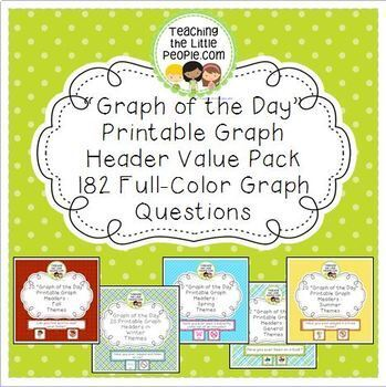 Daily Graph Printables Value Pack - A Graph Question for Every Day of the Year