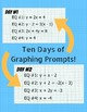 Daily Graphing Challenge - 10 Days of Linear Equation Graphing