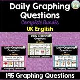 Daily Graphing Questions Bundle - 195 Questions - UK English Spellings