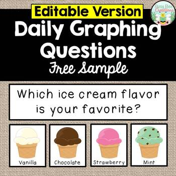 Daily Graphing Questions - EDITABLE - free
