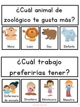 Daily Graphing Questions FREE - Spanish Version