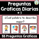Daily Graphing Questions - Set 3 - Spanish Version