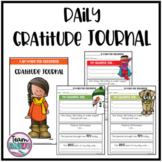 Daily Gratitude Journal for Students & Teachers Digital Version