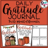 Daily Gratitude Journal for the Month of November