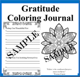 Daily Gratitude and Coloring Journal: 50 Days of Pondering on Gratitude
