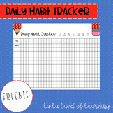 Daily Habit Tracker - January Freebie
