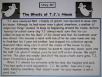 Daily Halloween Stories Locating Text Evidence Comprehension Practice
