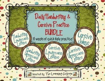 Daily Handwriting & Cursive Practice Bundle