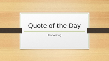 Daily Handwriting- Inspirational Quotes