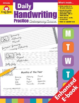 Daily Handwriting Practice, Contemporary Cursive
