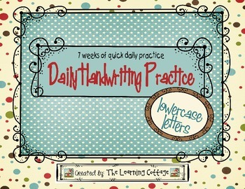 Daily Handwriting Practice - Lowercase Letters
