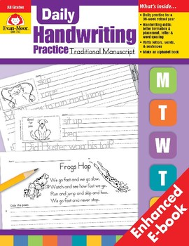 Daily Handwriting Practice, Traditional Manuscript