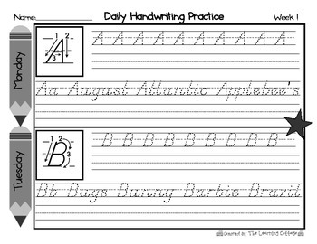 Daily Handwriting Practice-Uppercase Letters