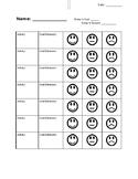 Daily Happy Face Behavior Chart
