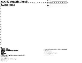 Daily Health Check Symptoms Record