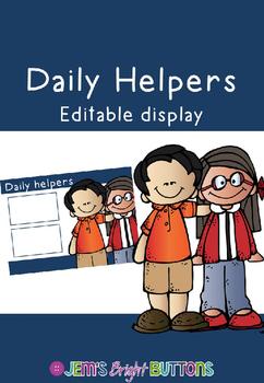 Daily Helpers display - editable