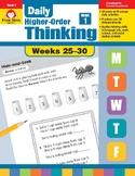 Daily Higher-Order Thinking Bundle, Grade 1, Weeks 25–30