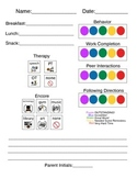 Daily Home Note for Elementary Special Education