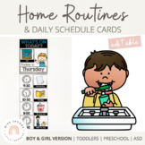 Home Schedule and Daily Routines Pack | Editable | Distanc