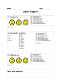 Daily Home log for special education classroom