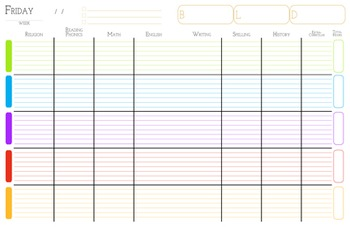 Daily Homeschool Planner