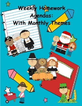 Daily Homework Agenda that is Theme centered