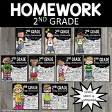 Homework 2nd Grade Bundle | 2nd Grade Morning Work | Second Grade Homework