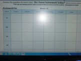 Daily Homework Tracking System for Secondary Students