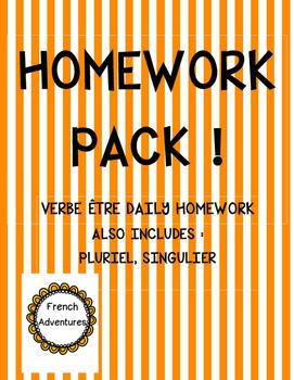 Daily Homework- Verbe être