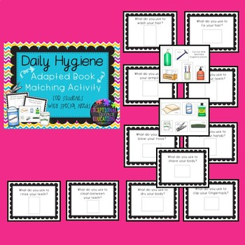 Daily Hygiene Adapted Book for Students with Special Needs