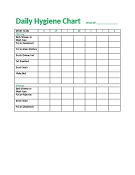 Daily Hygiene Chart