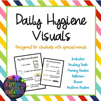 Daily Hygiene Visuals Set for Students with Special Needs