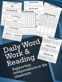 Daily Independent Word Work and Reading