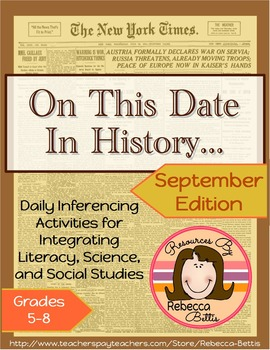 Inferencing Activities & Higher Order Thinking Daily Activities for September