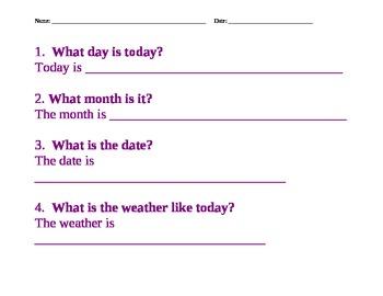 Daily Info, calendar, morning