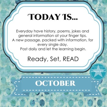 Daily Information & Reading As Part of Your Morning Routine for October