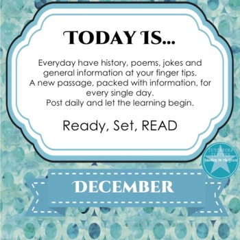 Today Is Daily Information & Reading as Part of Your Daily Routine for December