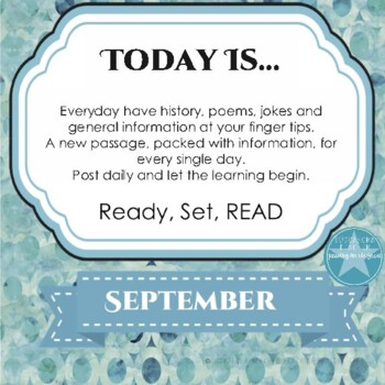 Today Is Daily Information & Reading as Part of Your Daily Routine for September