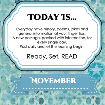 Daily Information & Reading as Part of Your Daily Routine for November