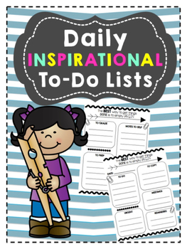 Daily Inspirational To Do List/Organizer