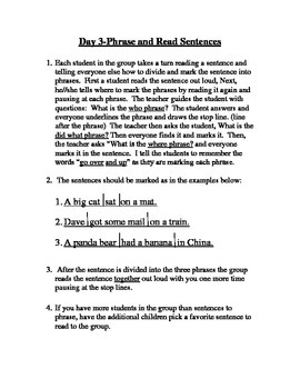 Daily Instruction for Teaching Reading Packets