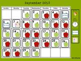 Daily Interactive Calendar