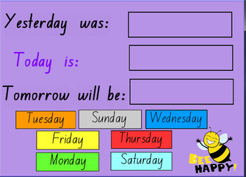 Daily Interactive Calendar (including day/word of the day) Notebook File
