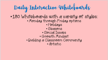 Daily Interactive Whiteboards