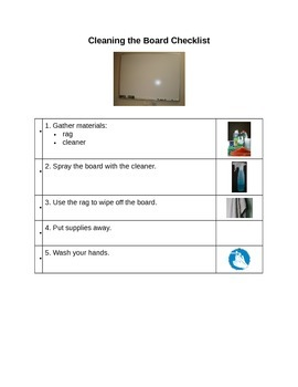 Daily Jobs Picture Directions/Checklists